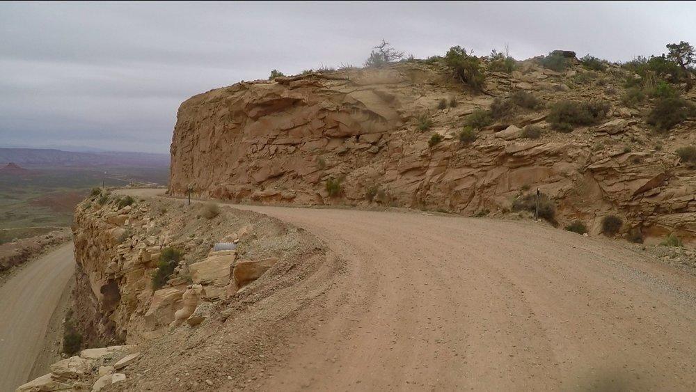 Descending the Moki Dugway