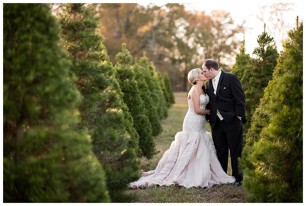 Hughes Christmas Tree Farm Wedding Photos Benton Louisiana