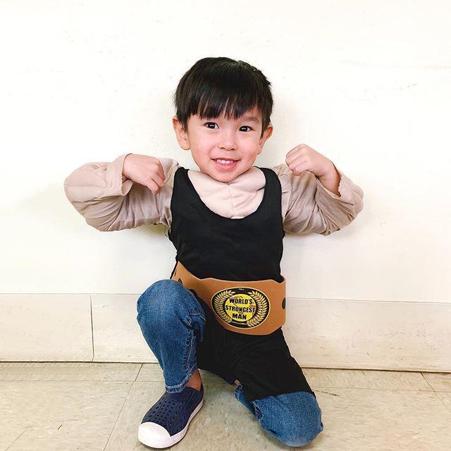 my little strong man 🎪🏋🏻♂️🍿
