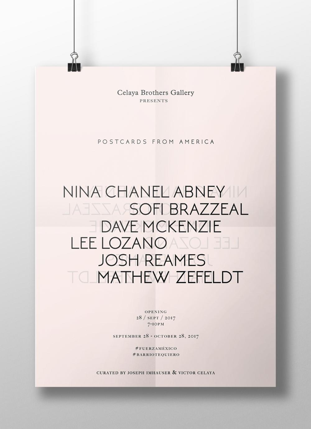 postcards from america - exhibition design, branding