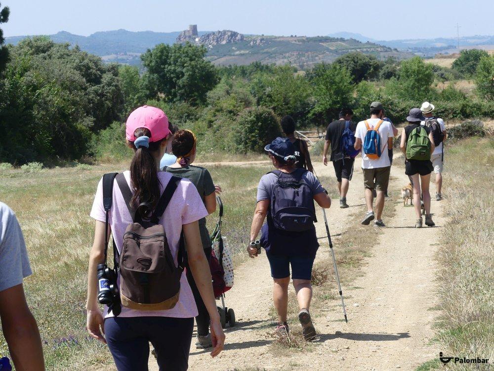 Percurso com o Castelo de Algoso ao fundo | 7 de julho de 2018