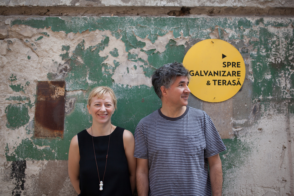 Constantin og Cosmina Goagea er arkitekter og prosjekteiere.Foto: Julie Lunde Lillesæter/Differ Media