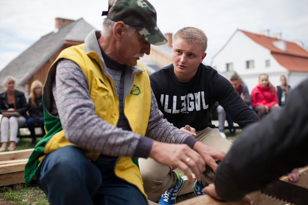 Opplæring i tre som håndverk i Lublin, Polen september 2015. Foto: Julie Lunde Lillesæter/DifferMedia