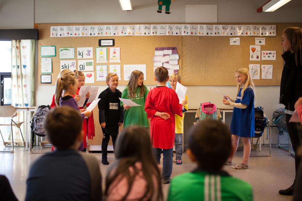 I Write A Science Opera lager elevene opera ut av realfagspensum. Foto: Julie Lunde Lillesæter/Differ Media