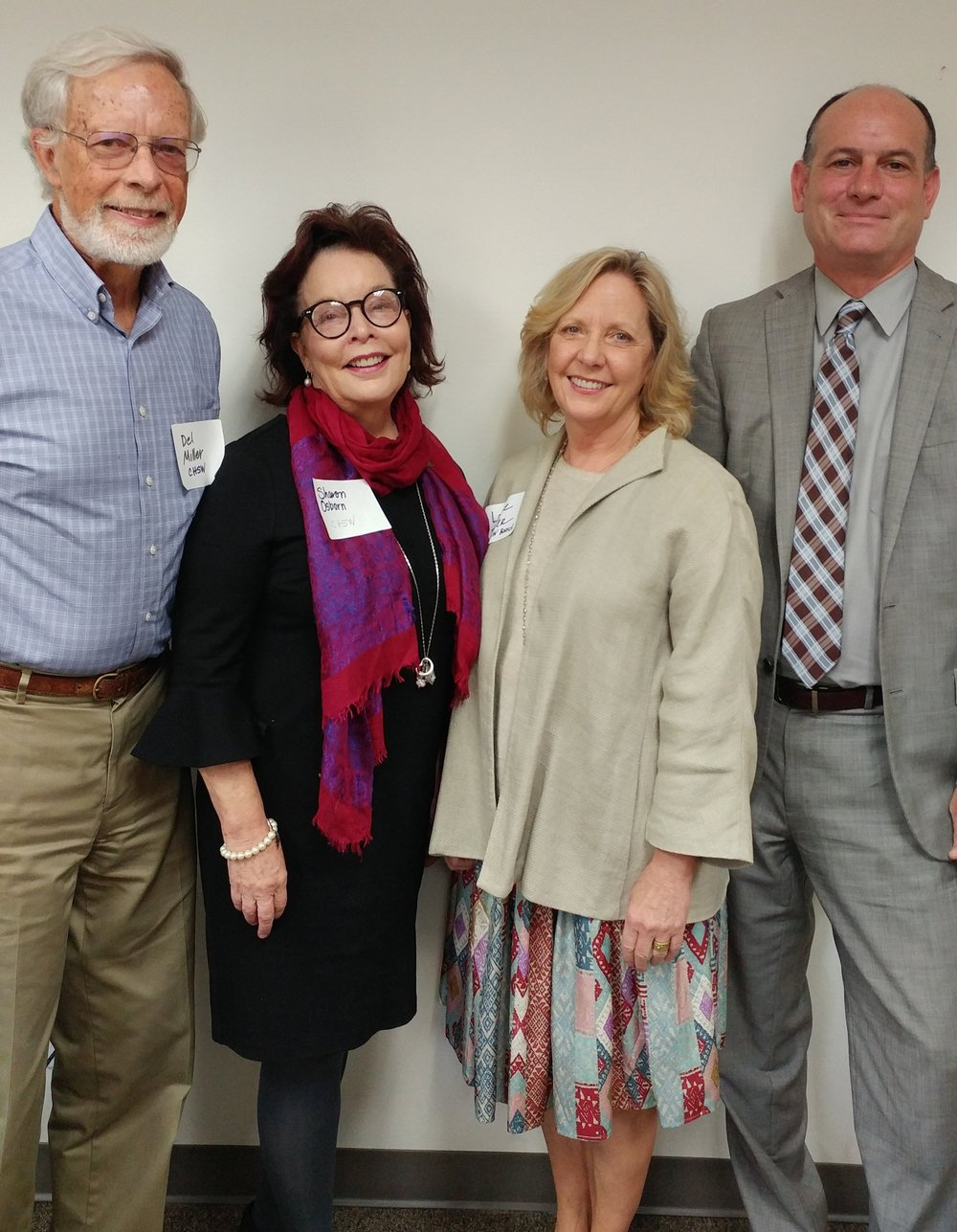 Photo from left to right:  Del Miller, CHSW board; Sharon Osborne, CHSW president/CEO; Louise Parker, CHSW board;   Frank Ordway, director of Government and Community Affairs for the new Department for Children, Youth and Families.