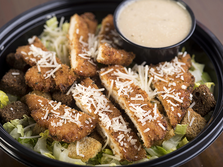 Chicken Cutlet Caesar Salad