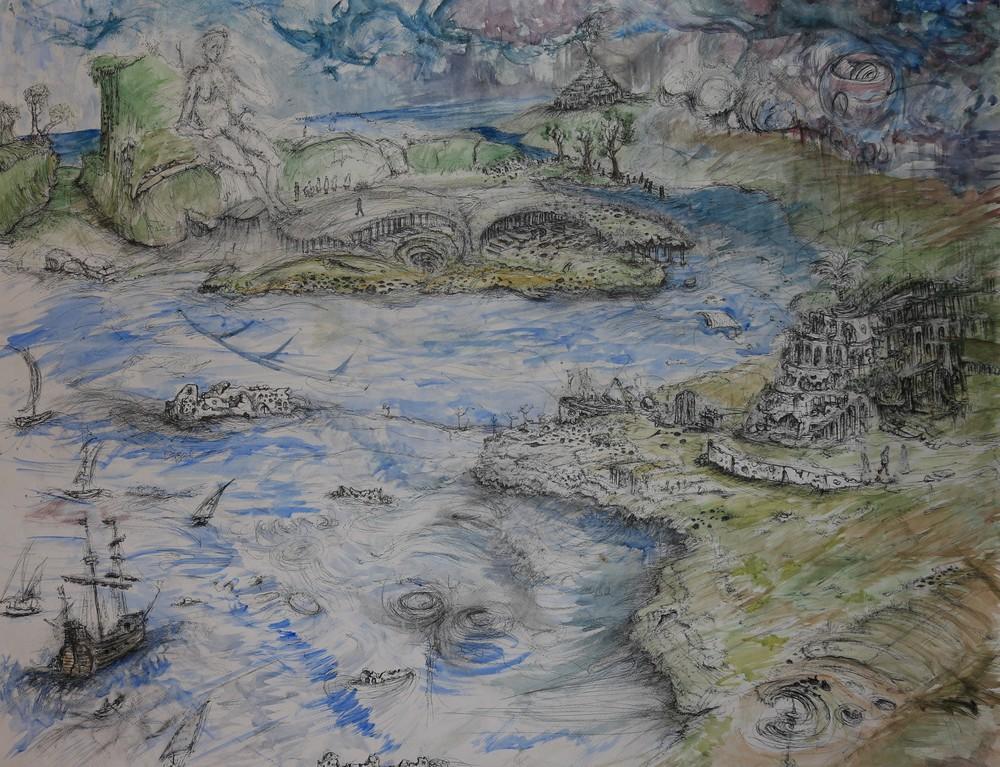 """Forgotten Shores (42x34"""")"""