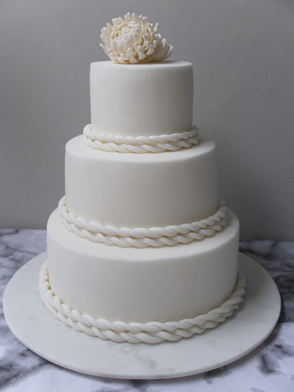 Braided Chrysanthemums - Abundance Cakes Wedding cake