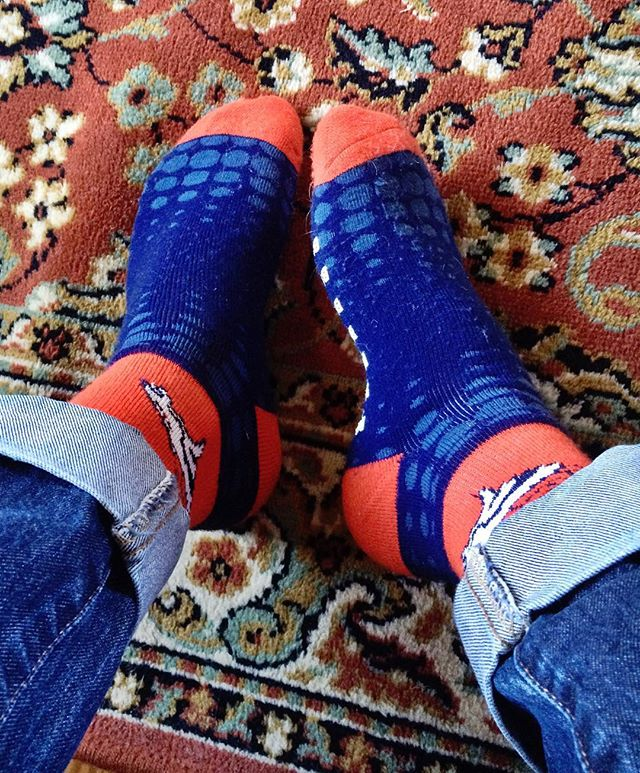Playoff socks. #gobroncos