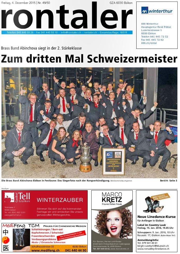 Schweizerischer Brass Band Wettbewerb 2015