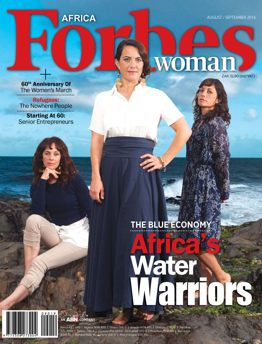 "Forbes Woman Africa / The Blue Economy                         by Jay Caboz August 12, 2016 ""FORBES WOMAN AFRICA highlights the South African entrepreneurs who have made the sea their business, their life. The stories of grit are many. Freediving champion Hanli Prinsloo speaks of the burgeoning business of sea tourism... 'As we move more toward an urbanized world that is technology-driven, nature experiences have become so much harder to find in true wilderness. The ocean is our last true blue wilderness'  (says I AM WATER co-founder Hanli Prinsloo.)"" Read the whole article here."