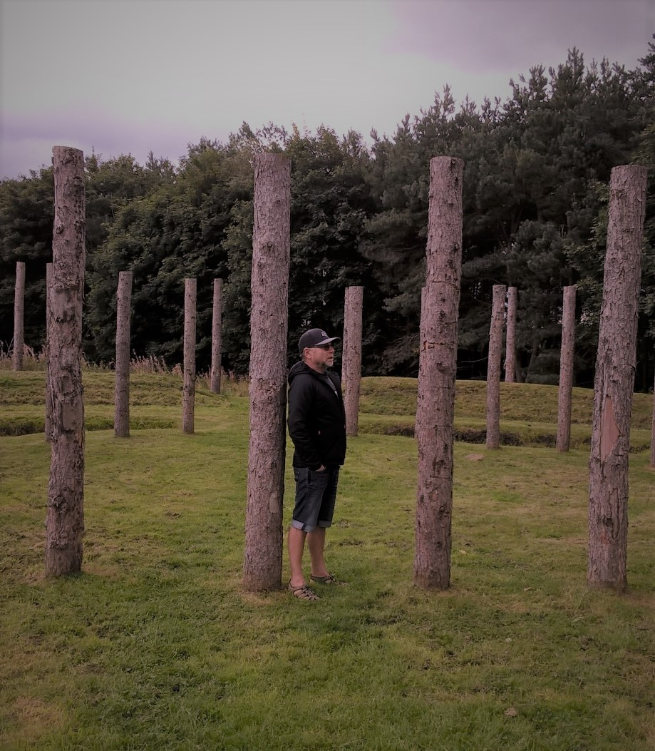 Reconstructed Milfield Henge, Part of the 'Maelmen Heritage Trail' at Milfield, Northumberland, September 2017 - taken by Katrine Rustad