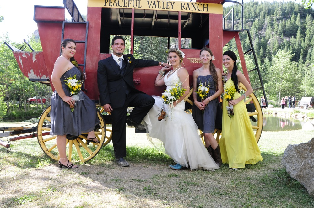 wedding party at stagecoach