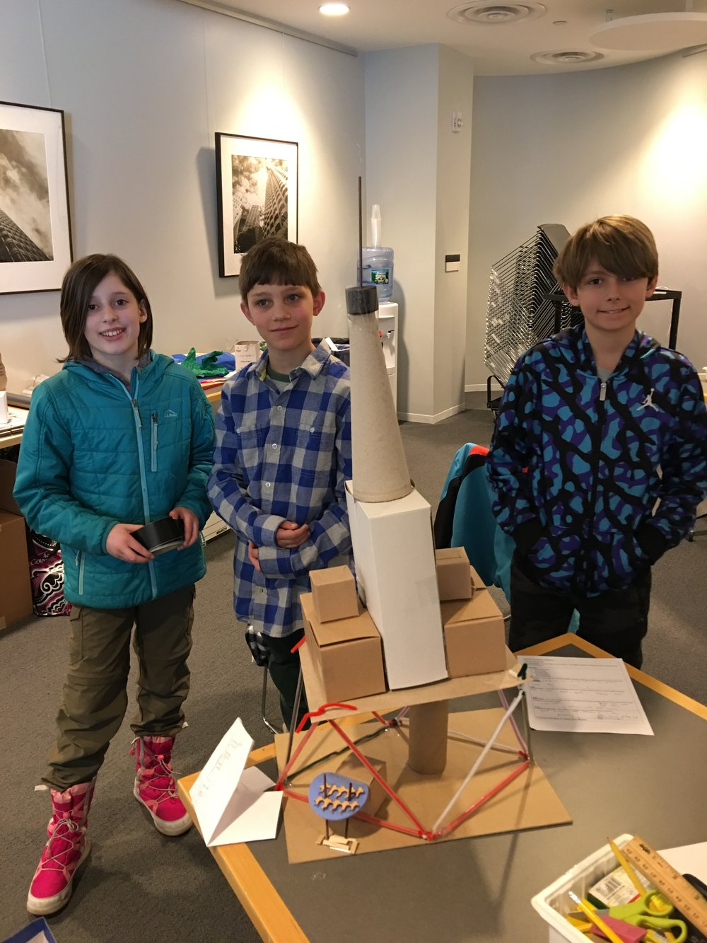 Our 4/5 class worked with BSA Architect Polly Carpenter on a Skyscraper Project.