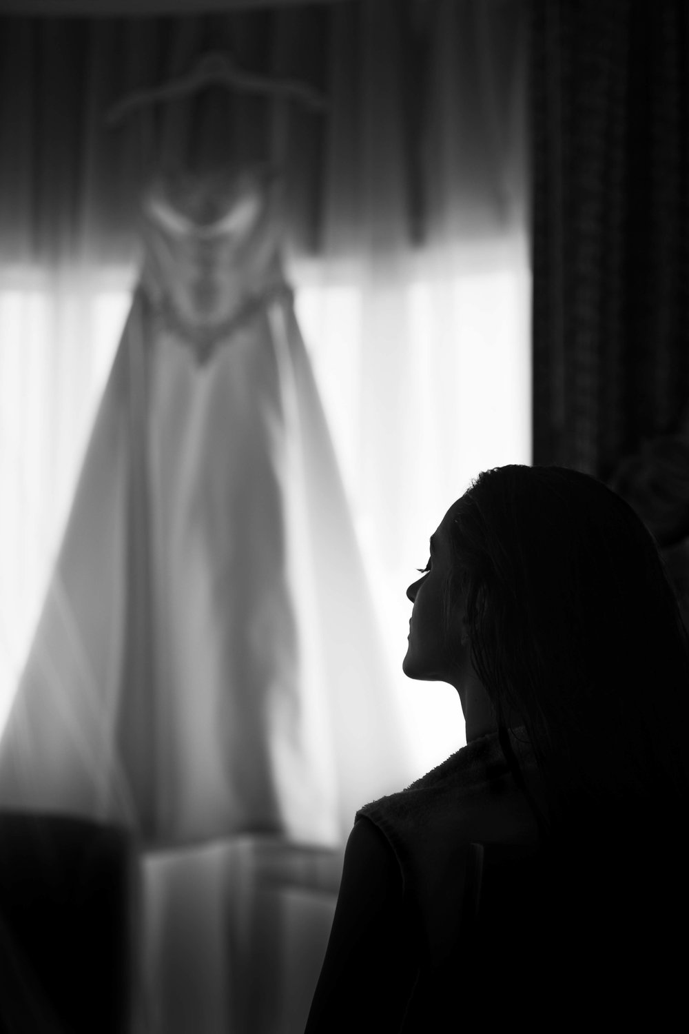 Beautiful bride getting ready at the Brookstreet hotel, Ottawa, Ontario.