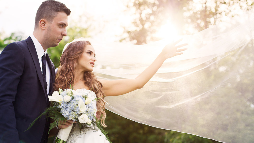 Beautiful portrait of the couple at Loch March Golf club, Ottawa, Ontario.