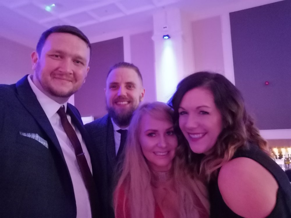 My crew for the evening - It was awesome to share the experience with these guys. Tommy (Rowe Films) didn't get his win this time but it wont be long, the guy is a genius.Left to right: Me, Tommy, Adele (Tommy's Partner), Nicky (The Wife)