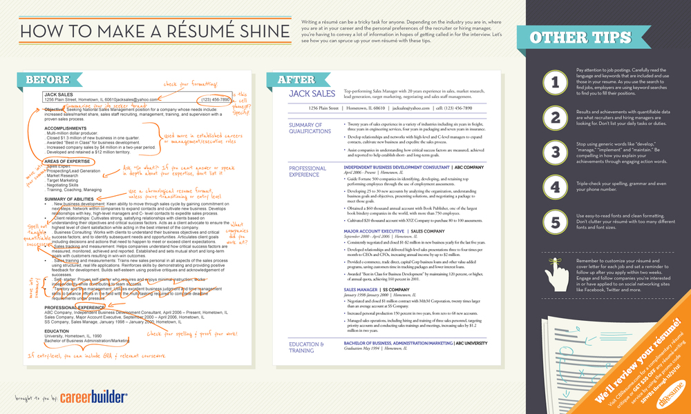 Click Résumé Tips Picture To Enlarge