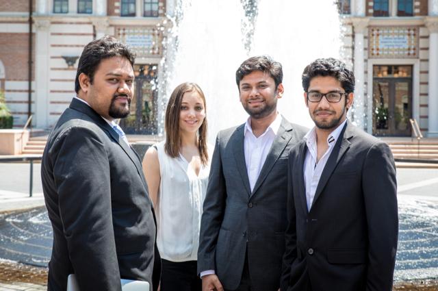 DroiceLabs team, pictured left from right,Ashanideepta Bhattacharya, Tasha Nagamine, Mayur Saxena and Harshit Saxena