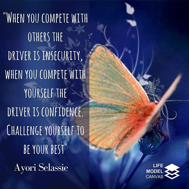"""When you compete with others the 