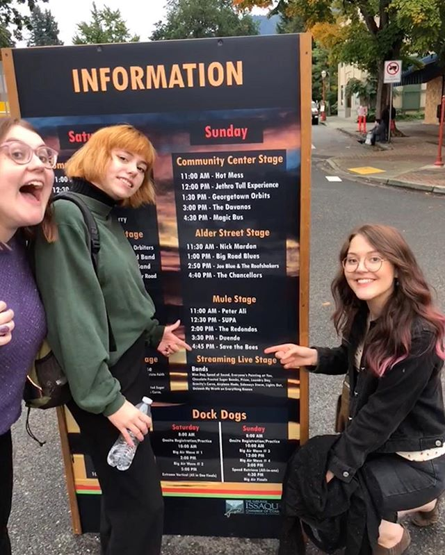 We had lots of fun at the Issaquah Salmon Days Festival, and we are pumped to announce we are playing Allyn Days this summer! July 14th, more details soon 🌞