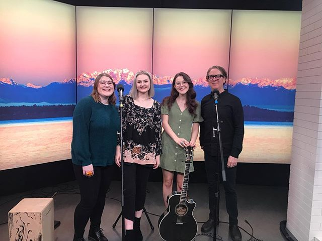 "We played ""Willow Tree"" on @king5seattle 's New Day Northwest this morning !!! 🌞 Our segment with Matt Chamberlain is up on King 5's website! @stgpresents More Music At The Moore is this Friday, 7:30 pm- tickets in bio, with a link to get yours 15% off and no box office fees 🙌🏻 hope to see you there 🐝✨"