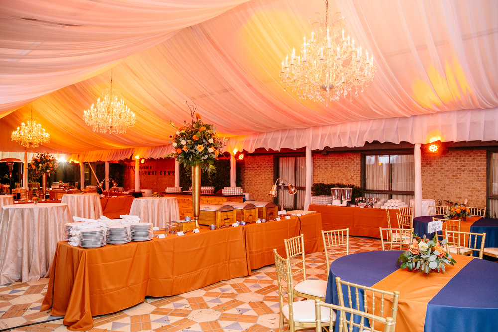 corporate event in private tent in downtown Austin, TX