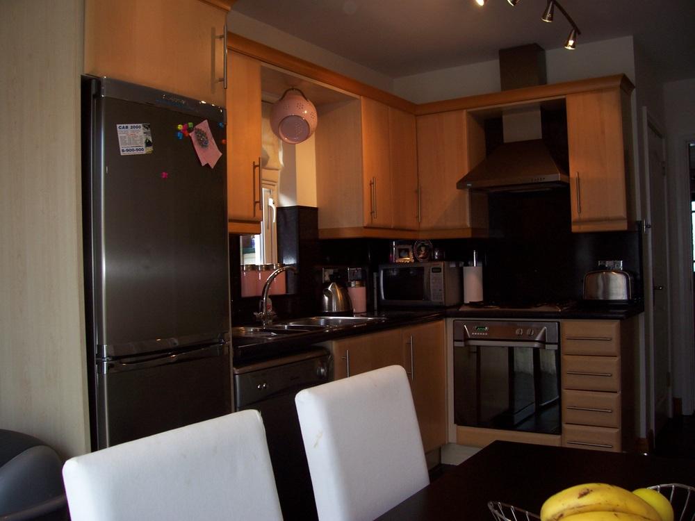 Beech kitchen cupboards before Interior Design