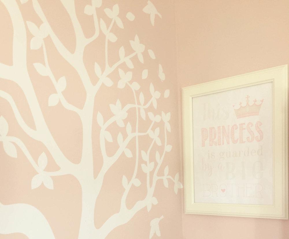 Girls bedroom print