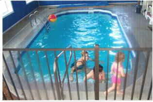 Kari & the Girls testing out the pool in the new store