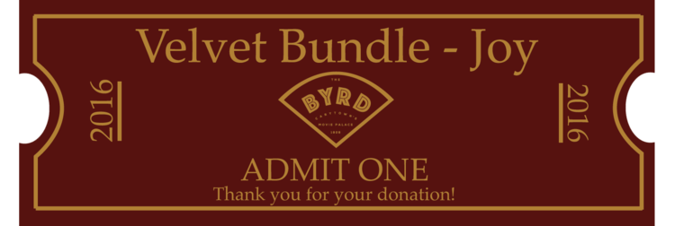 Vintage style ticket bundle to help raise money for the Byrd.