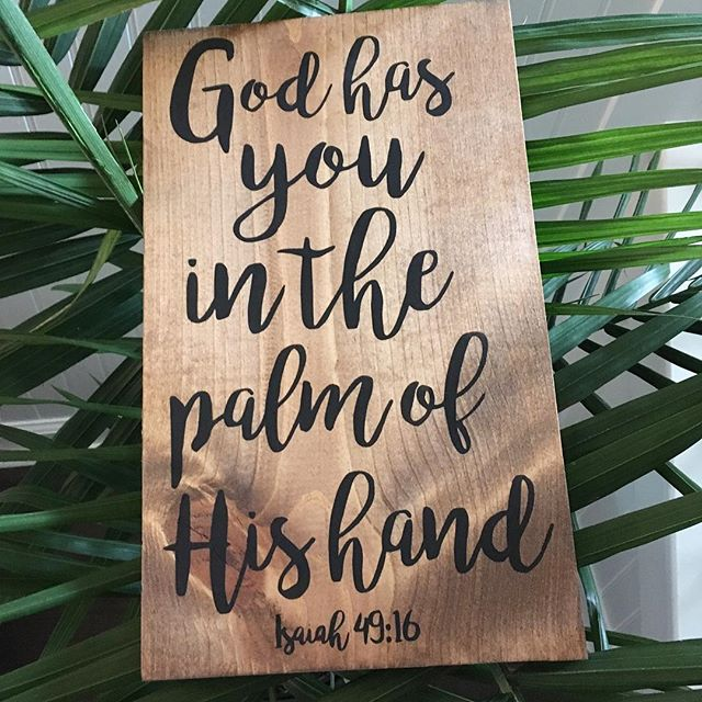 Just incase you need this reminder too. Finding comfort in the fact that nothing comes as a surprise to Him! When the world is scary & seasons are hard, He will carry us through. He has us in the palm of his hand & He cares for us. ❤️