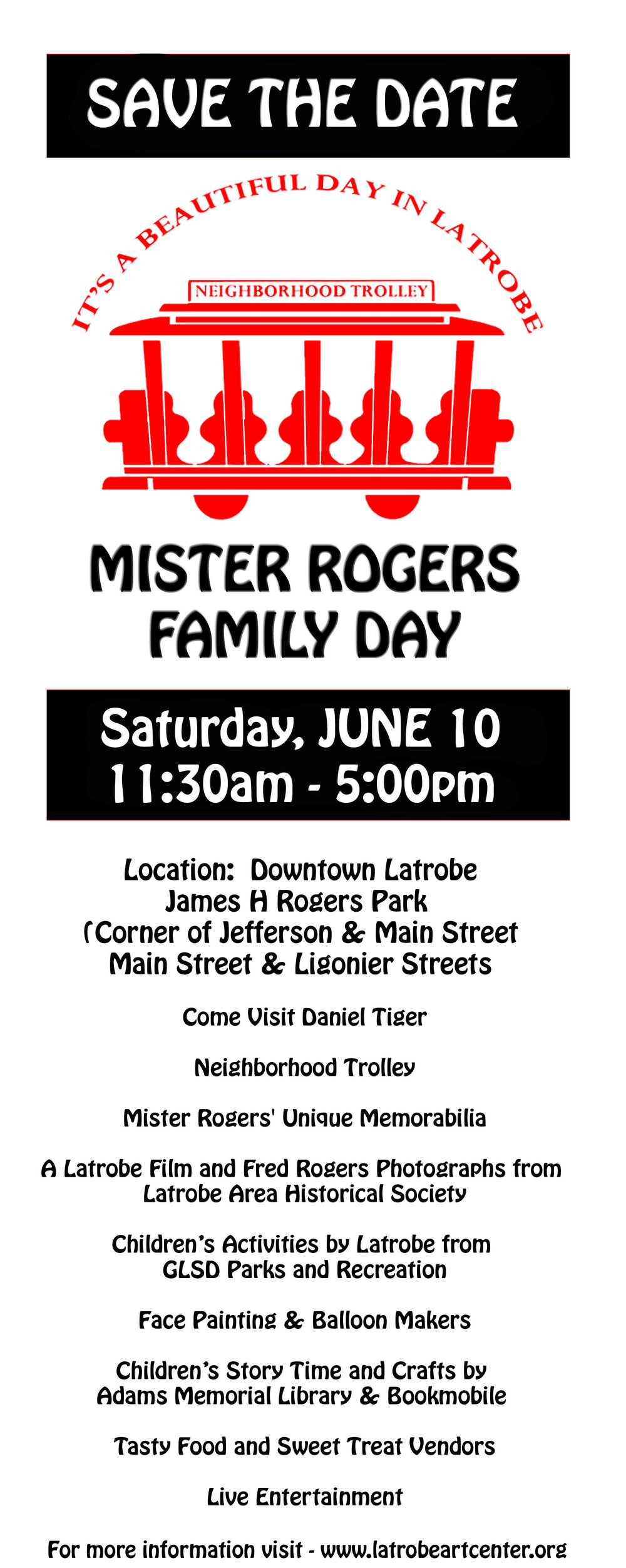 Mr Rogers Family Day, Latrobe Art Center