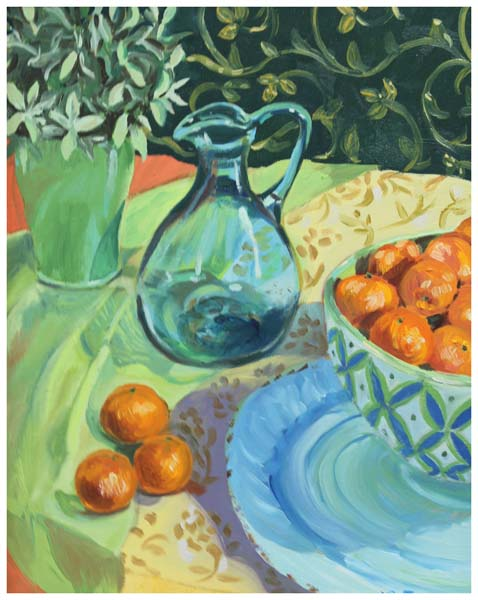Lorraine Free, Still Life with Clear Vase