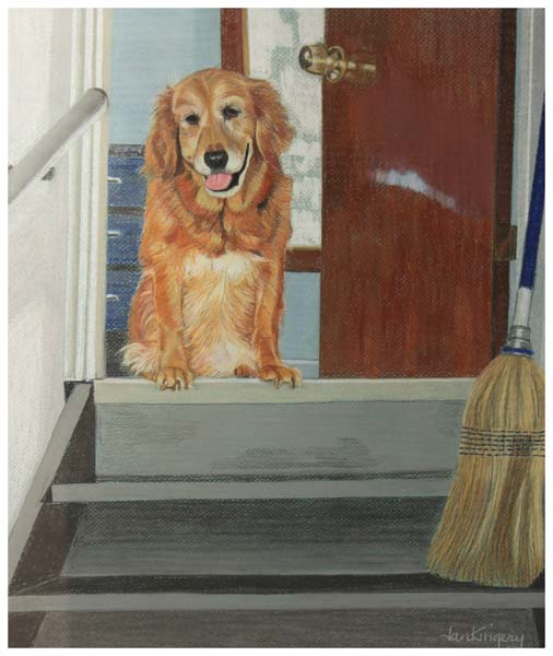 Jan Kingery, Chloe at the Top of the Stairs
