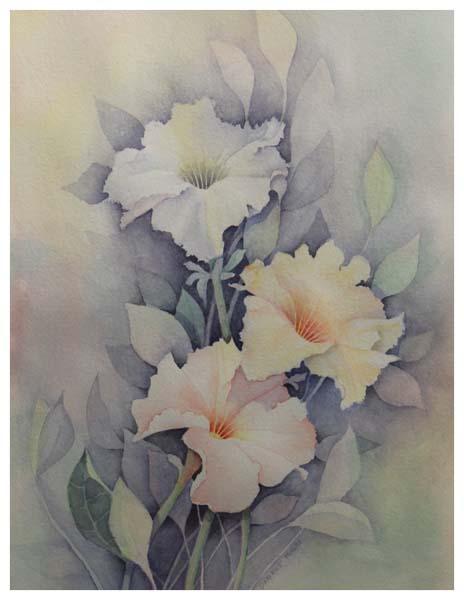 Darlene Miklos, Trio of Petunias