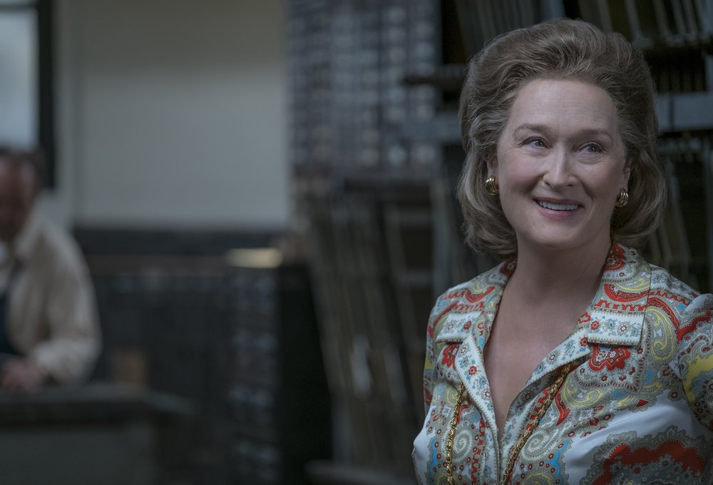 Meryl Streep as Kay Graham in The Post. Credit: E One