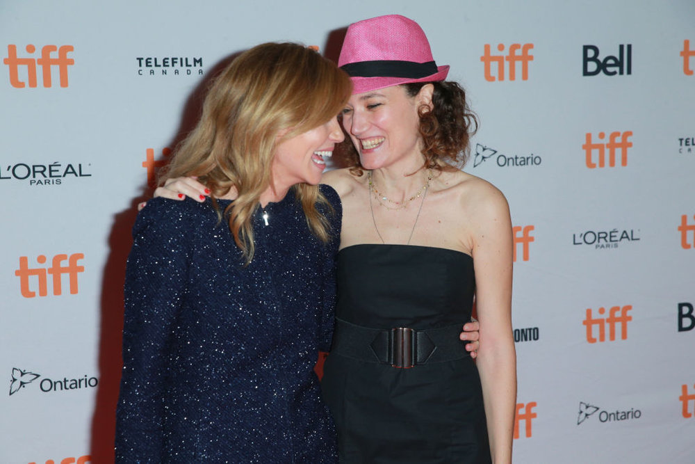 Coralie Fargeat and Matilda Lutz at TIFF. CREDIT: GETTY