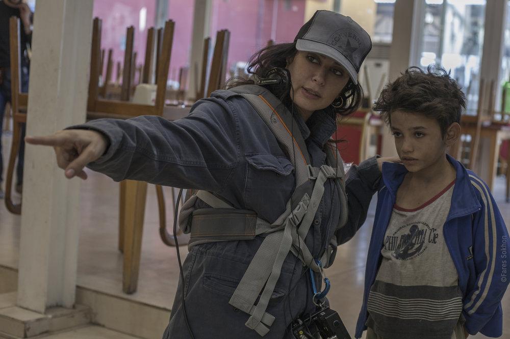 Nadine Labaki and Zain Al Rafeea on the set of 'Capernaum' CREDIT: Picturehouse