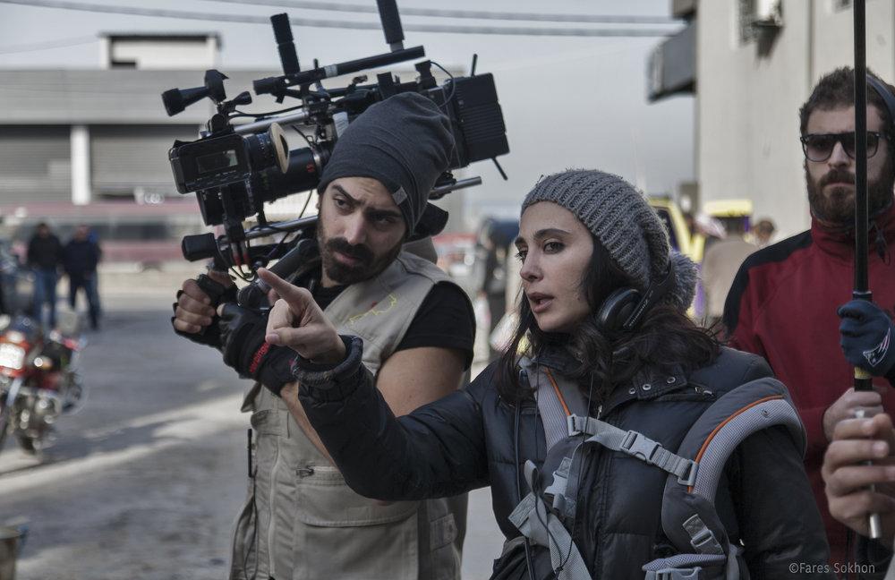 Nadine Labaki on the set of 'Capernaum' CREDIT: Picturehouse