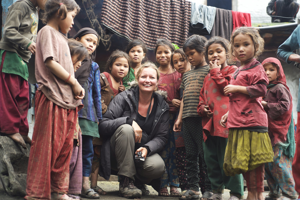 Co-drector Zara Balfour, filming in Nepal. CREDIT: Dartmouth Films