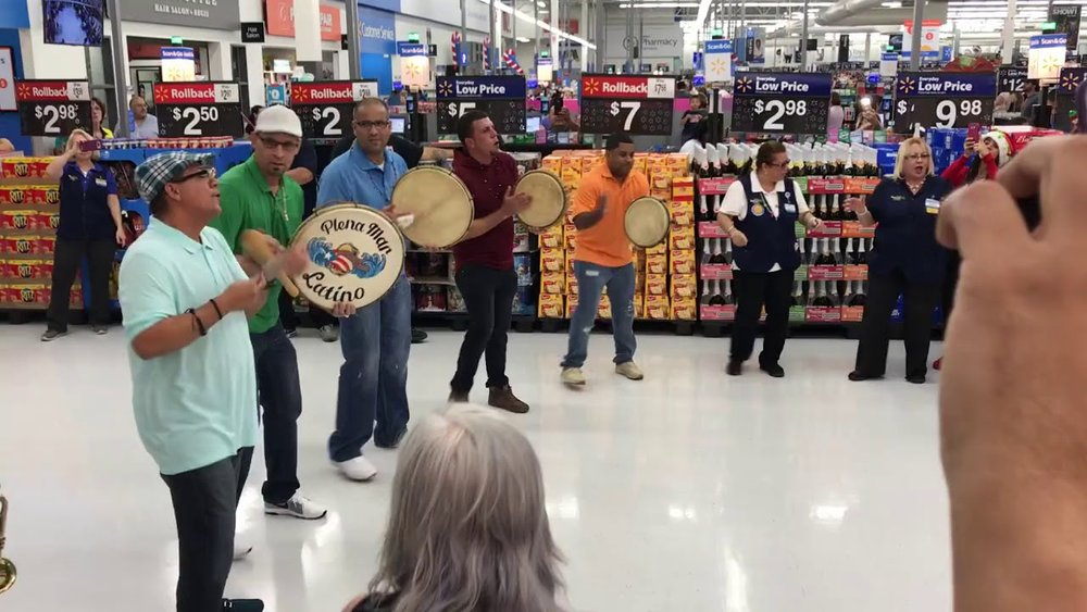 The Christmas Parrandon at Walmart in Kissimmee, FL