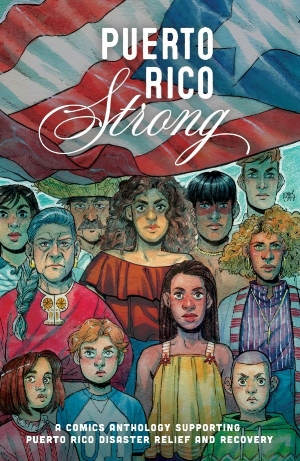 A whitened Puerto Rico Strong comic book