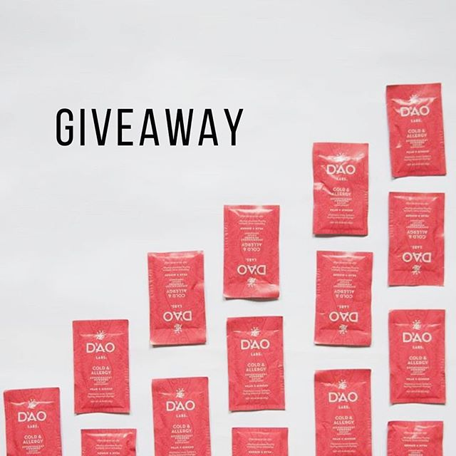 *G I V E A W A Y* I've teamed up with Dao Labs to giveaway a box of Cold/ Allergy herbal formula packets. It's great to ward off colds, build up your immune system, help people who get sick often, and alleviate allergy symptoms. As a bonus they are so tasty and really easy to use! . . To enter to win all you have to do is 1) Like this post and Follow @totalityacupuncture and @daolabs and 2) Tag a friend(s) (each tag equals an entry). . . Winner randomly selected and announced on Wed Oct 24! Anyone can enter, box will be shipped to winner! . . Cheers! . . . #giveaway #immuneboost #daolabs #TCM #naturalremedies #coldseason #dontgetsick #freestuff #acupuncture #acupuncturist #naturalhealth #holistichealth #totalityacupuncture #delicious #octobergiveaway #herbs #stayhealthy #immunesystem #entertowin #tcmpractitioner #selfimprovement #yvr