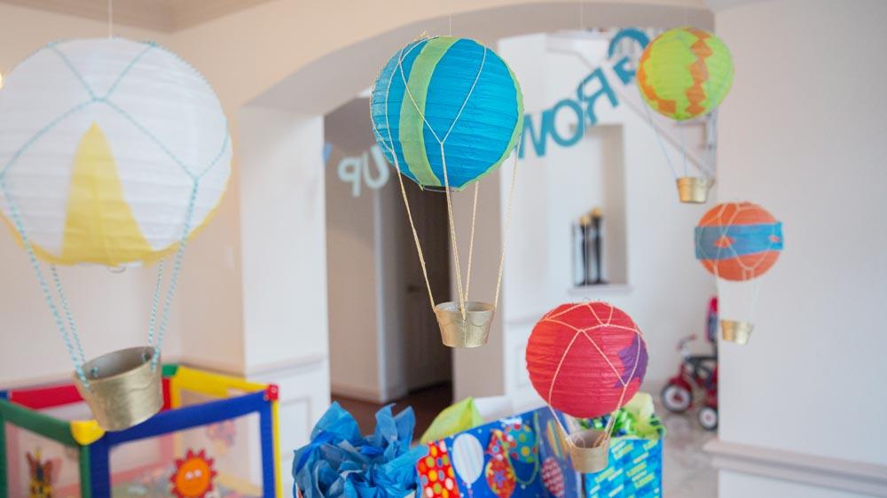 DIY Hot Air Balloons and Banner