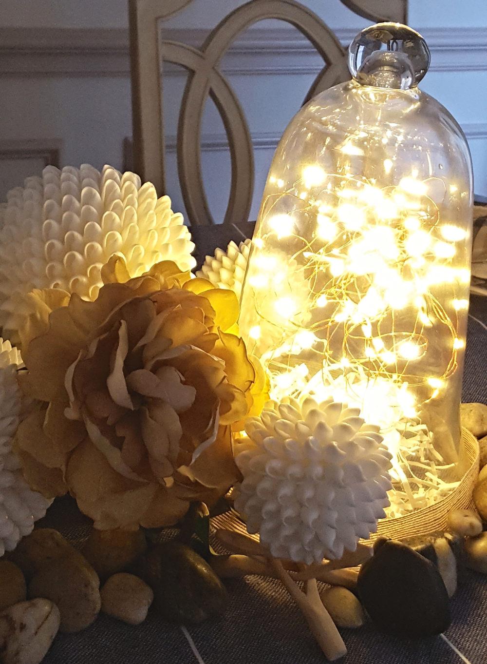 Glass Cloche with LED Fairy Lights - lifewithstyle.co
