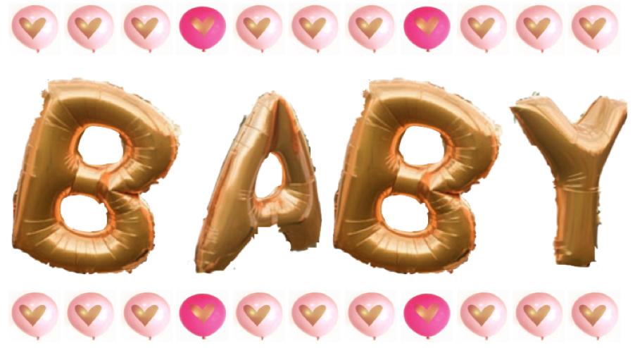Balloons for Girl Baby Shower Decor Inspiration