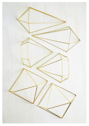 Geometric Wall decor from ModCloth.com for floral arrangement inspiration for Girl Baby Shower