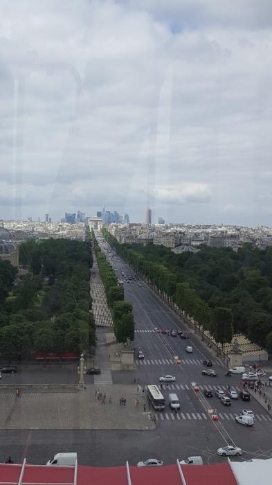 View of Avenue des Champs-Elysees from La grand Roue, Paris, France