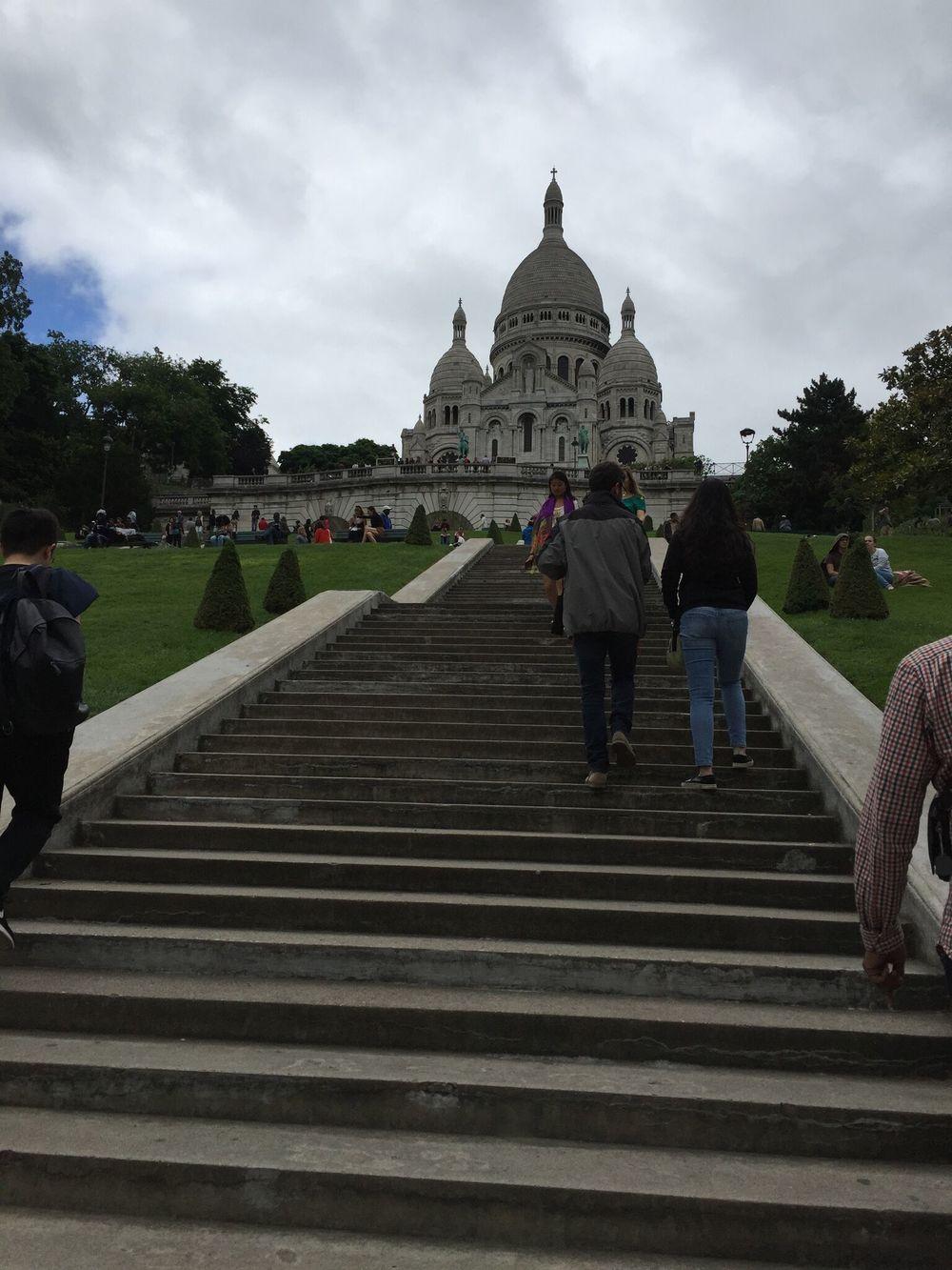 Steps to La Basilique du Sacre Coeur, Paris, France